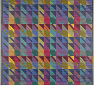 Brightly colored squares broken by diagonals