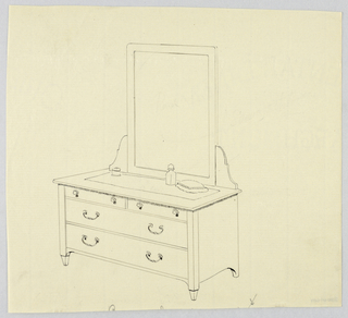 Drawing, Design for Bureau