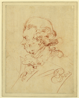 Drawing, Study for Portrait of a Man