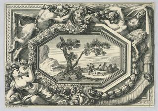 "Print, Panel from, ""Ornements de Paneaux"", ca. 1675"