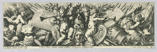 Print, Friezes: Trophies of Arms And Putti, 1671