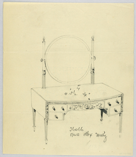 Drawing, Design for Toilet Table