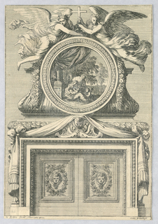 "Print, Design for Mantlepiece, from ""Cheminées a la Modern"", ca. 1660"