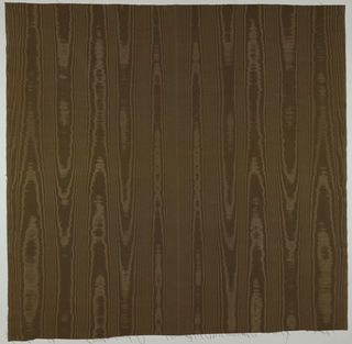 Brown silk moire.