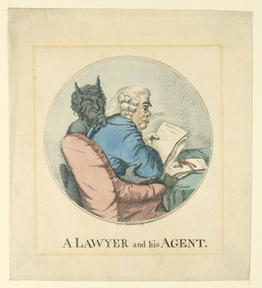Print, A Lawyer and His Agent, 1793