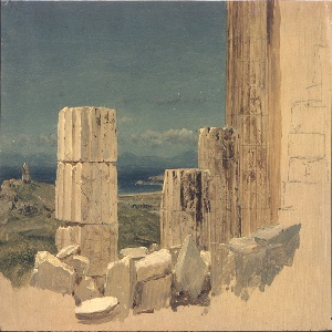 Drawing, Broken Columns, View from the Parthenon, Athens