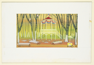 Drawing, Stage Design: Picnic Ground, for 110 in the Shade
