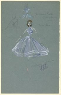 Drawing, Costume Design: Ann Wilson, for East of Mombasa