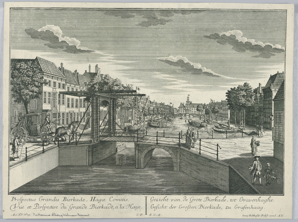 Print, Peep-show, View of the Great Bierkade, The Hague, 1732-1801