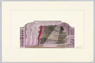 Drawing, Stage Design: Stage, for The Girl Who Came to Supper