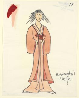 Drawing, Costume Design: Miyamoto's Wife, for Caligula