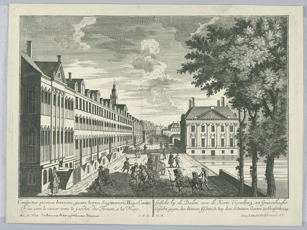 Print, Peep-show, View of the Pond Near the Shooting Garden in the Hague, 1732-1801