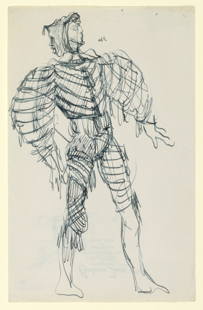 Drawing, Costume Design: Carnival Costume with Mask