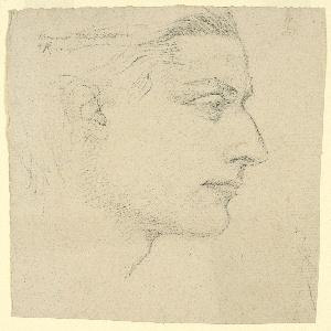 Study of a head in right profile.