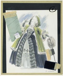 "Costume design for ""Pique Dame"""