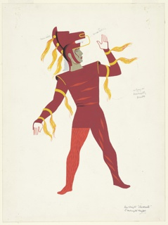 """Drawing, Costume Design: Red Knight, for """"Checkmate"""""""