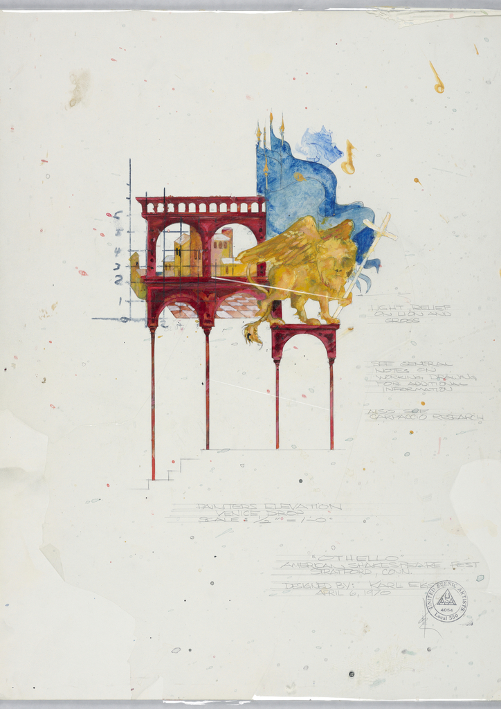 Drawing, Stage Design: Painters' Elevation, for Othello