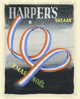 Drawing, Design for Harper's Bazaar, Xmas Noél, October 30, 1939
