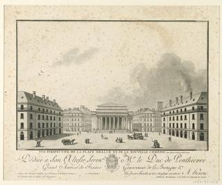 Print, Gralin Place, Nantes, ca. 1790