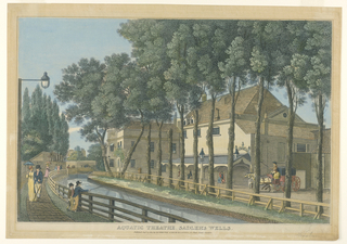 Print, Exterior View of the Aquatic Theater, Sadler's Wells, London, 1813