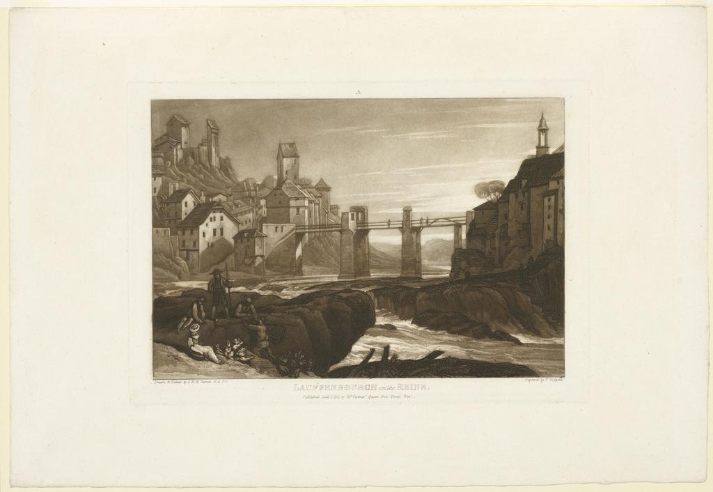 Print, Lauffenbourg on the Rhine