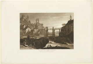 Print, Lauffenbourg on the Rhine
