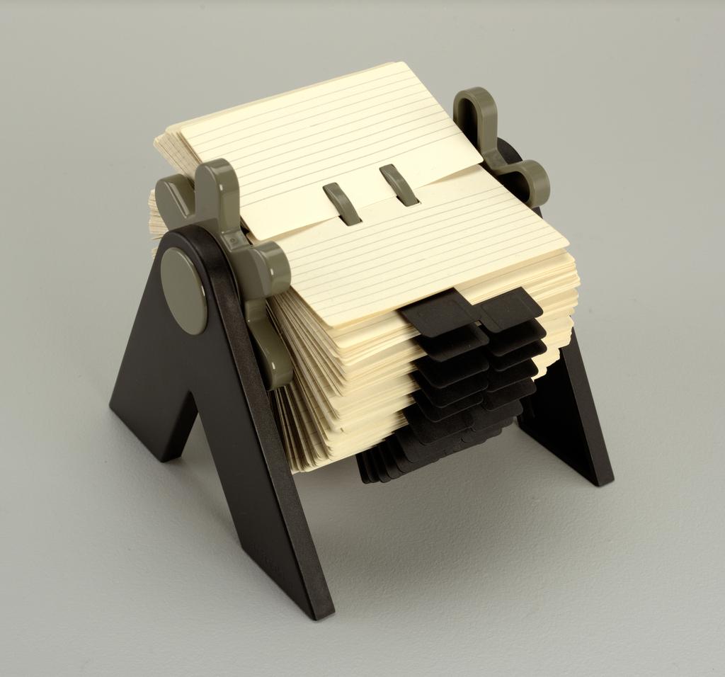 Flip-File Card File, 1979