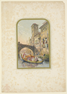Print, Verona, Evening Scene, ca. 1850