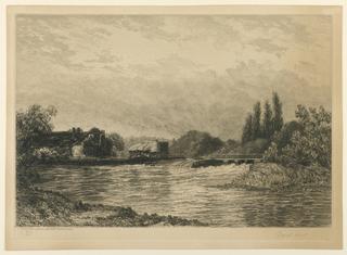 Print, Pangbourne Weir