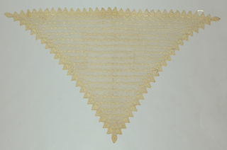 Three cornered lace scarf. Probably Empire style.