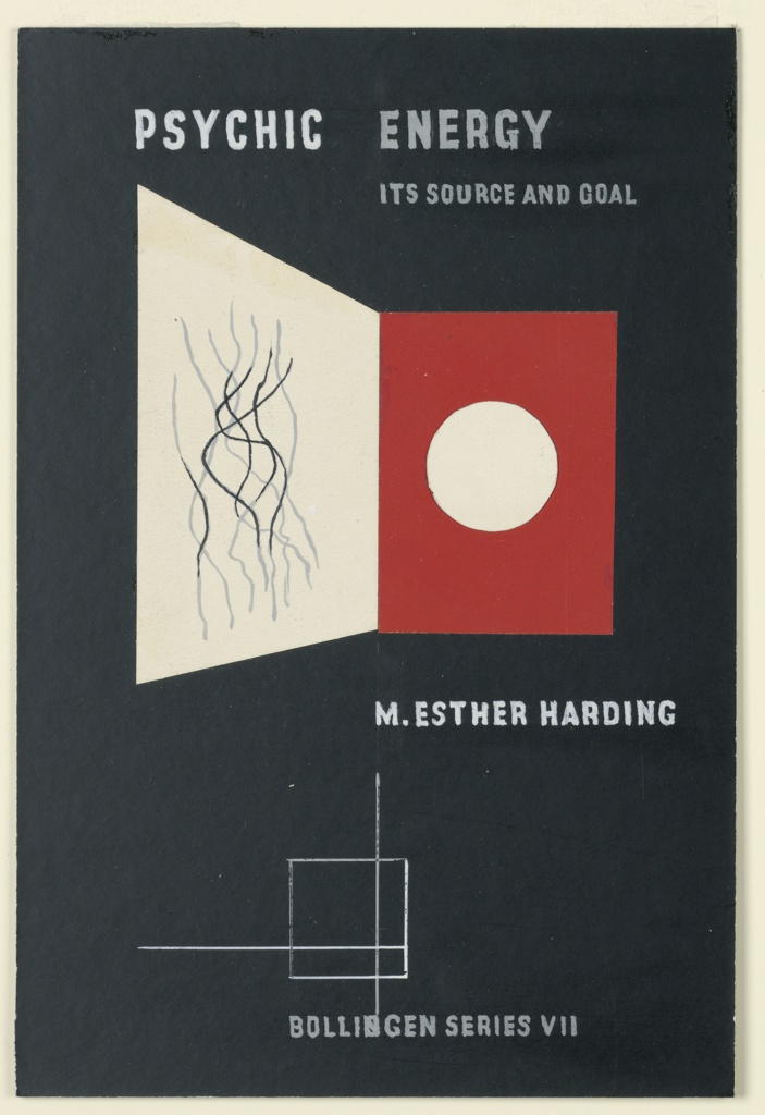 """Print, Design for a Book Cover, """"Psychic Energy"""""""