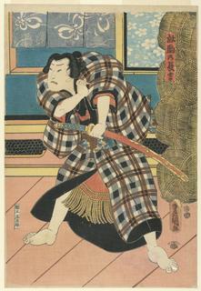 "Woodblock Print, Chokichi, ""the untamed horse"", ca. 1850"