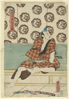 Woodblock Print, The actor Igoro Sawai, ca. 1850