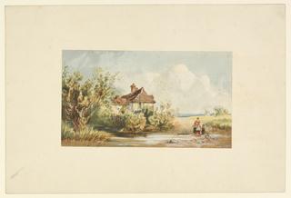 Print, Scene in Holland, ca. 1850