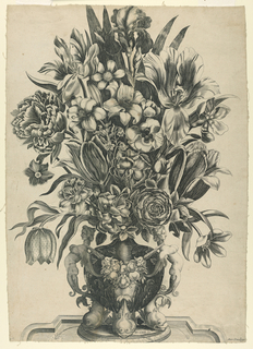 Print, Flowers in a Vase, 1650–75