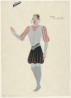 """Drawing, Costume Design: Arran, for """"Queen of Scots"""""""