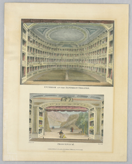 Print, Interior of the Pantheon Theater, 1815