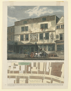 Print, The Fortune Playhouse, Golden Line with Plan of Golden Lane Below, 1811