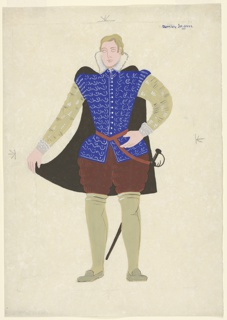 """Drawing, Costume Design: Lord Darnley, for """"Queen of Scots"""""""