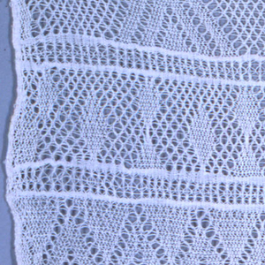 Samples of a variety of gauze weaves in white cotton.