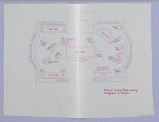 Drawing, Plan of Sitting Room, 1900–05