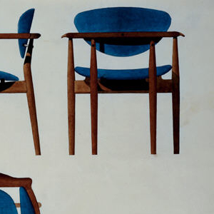Drawing, Design for a Dining Chair with Arms, for Baker Furniture Incorporated, Grand Rapids, MI
