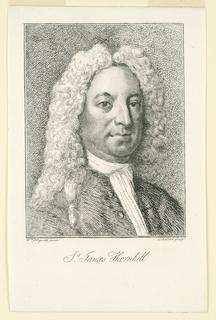 Print, Portrait of Sir James Thornhill