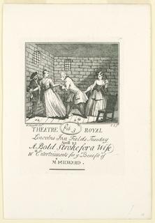 Print, Ticket for Milward's Benefit