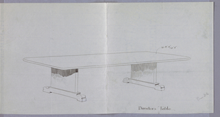 Drawing, Design for Directors Table