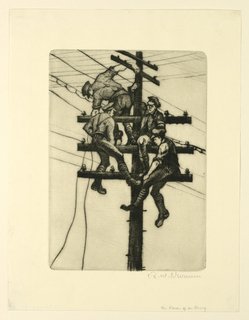 Print, The nerves of an army, 1918