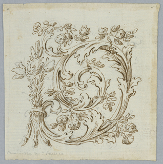 The right side shows a bunch of lilies as the central motif. They are fastened to an acanthus scroll with small flower branches.