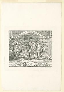 Print, Ticket for Walker Benefit in Covent Garden Theater