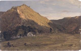 Drawing, Autumn landscape (North Carolina?), 1865–70