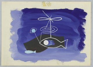 Drawing, Study for an Abstract Composition with Fish